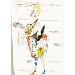 Marian BOGUSZ (1920-1980), Projekt kostiumu Kwoka do spektaklu Czupurek, 1958