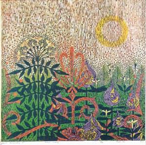 Hanna KUR (ur. 1994), Ogród ornamentalny IV, 2019, litografia, papier; 86 x 86 cm;