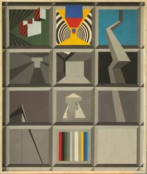 Fritz MIKESCH (1939-2009), Kompozycja geometryczna