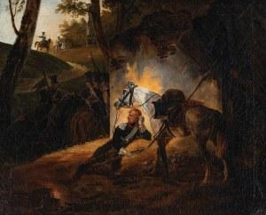 ODPOCZYWAJĄCY OFICER UŁANÓW KSIĘSTWA WARSZAWSKIEGO, po 1818