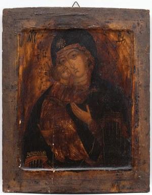 IKONA, MATKA BOŻA WŁODZIMIERSKA, Rosja, XVIII w.