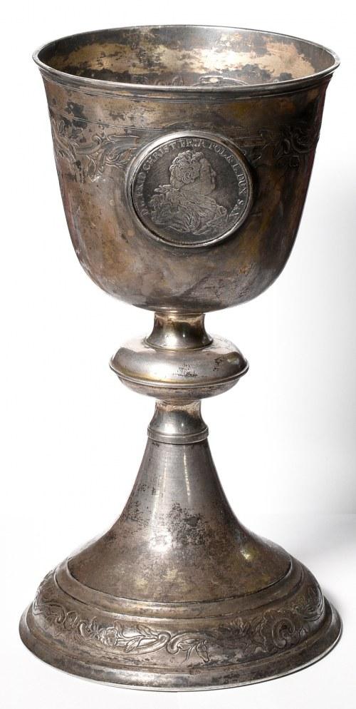 Kielich XVIII/XIX wiek z talarem Fryderyka Christiana 1763