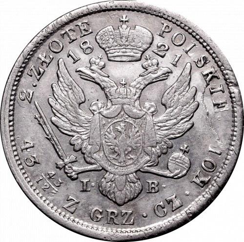 Kingdom of Poland, 2 zloty 1821