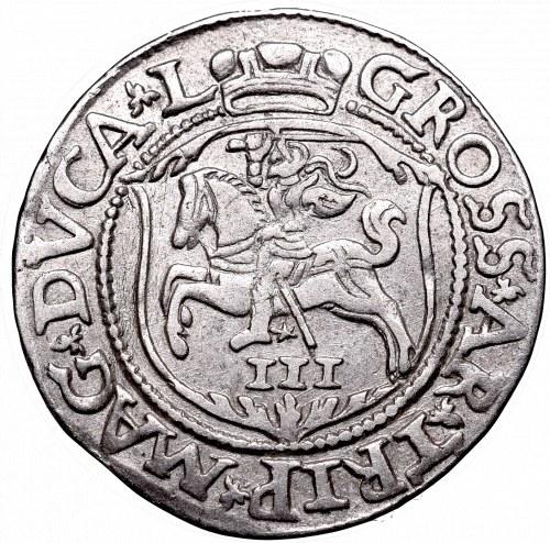 Sigismund II Augustus, 3 groschen 1562, Vilnius