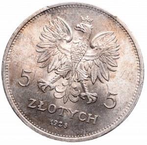 II Republic of Poland, 5 zloty 1928 Nike - PCGS MS62