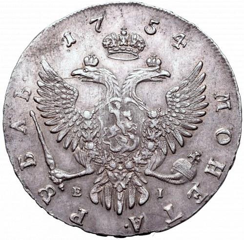 Russia, Elisabeth, Rouble 1754 MMД-EI