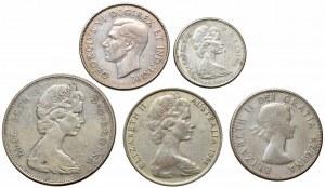Zestaw 5 monet świata