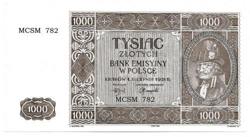 III Reich occupation of Poland, GG, 1000 zloty 1941 - copy 2004