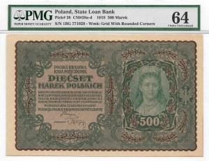 II Republic of Poland 500 polish mark 1919