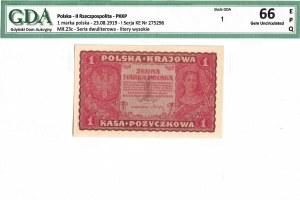 II Rzeczpospolita, 1 marka polska 1919 I Serja KE - GDA 66EPQ