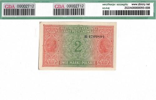2 marki polskie 1916 B generał - GDA 58EPQ