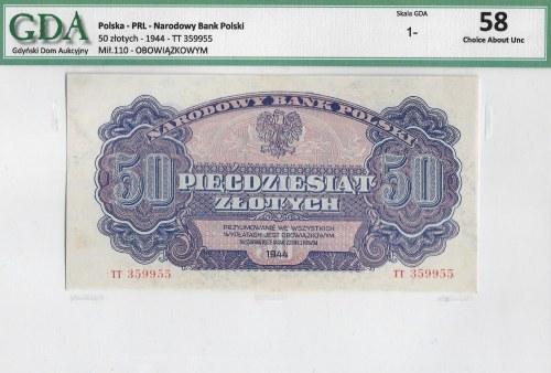 PRL, 50 złotych 1944 - owym TT - GDA 58