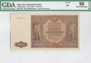 PRL, 1000 złotych 1946 N - GDA 50EPQ