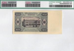 PRL, 20 złotych 1948 CK - GDA 66EPQ