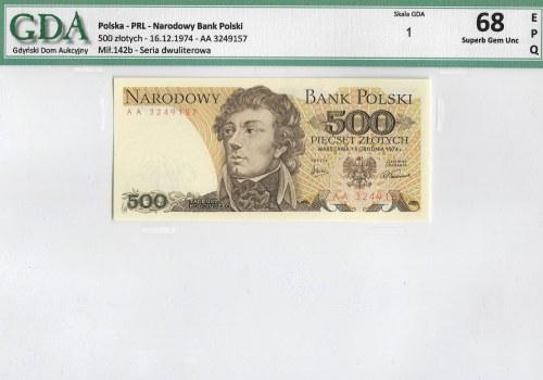 PRL, 500 złotych - 1974 AA - GDA 68EPQ