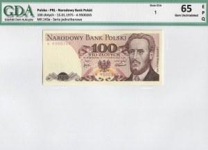 PRL, 100 złotych 1975 A - GDA 65EPQ