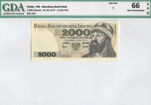PRL, 2000 złotych 1977 A - GDA 66EPQ