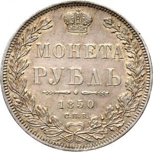 Rosja, Mikołaj I, 1 rubel 1850 PA, Petersburg, bardzo ładny