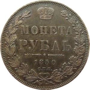Rosja, Mikołaj I, 1 rubel 1850 PA, Petersburg, piękny