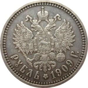 Rosja, Mikołaj II, 1 rubel 1909 EB, Petersburg