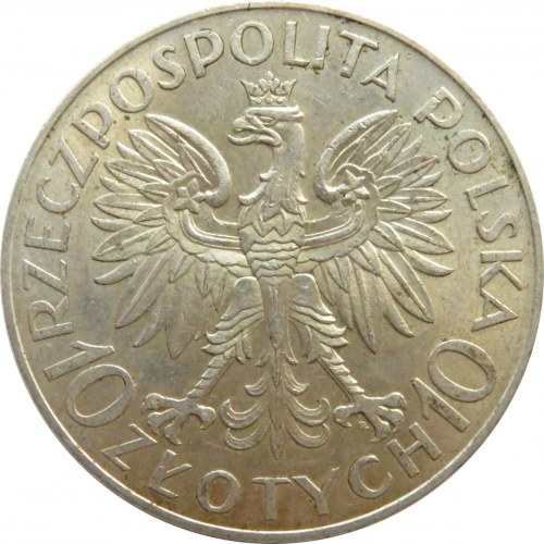 Polska, II RP, Romuald Traugutt, 10 złotych 1933, Warszawa, piękny