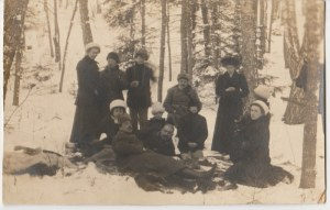 Przedwojenna fotografia: Przyłuki - rodzina Czapskich