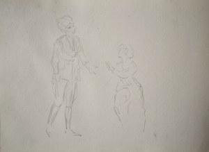 Karol Kossak (1896-1975), Szkice postaci mężczyzny i kobiety