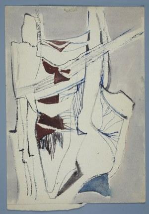 Janina Muszanka - Łakomska (1920-1982), Kompozycja abstrakcyjna [Postacie?], ok. 1960