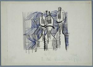 Janina Muszanka - Łakomska (1920-1982), Kompozycja abstrakcyjna, 1965