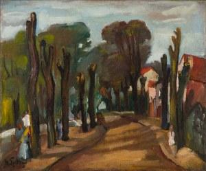 Henryk Epstein (1891 Łódź - 1944 Auschwitz) Aleja z drzewami, lata 20. XX w.