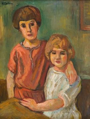 Henryk Epstein (1891 Łódź - 1944 Auschwitz) Dwoje dzieci, około 1924