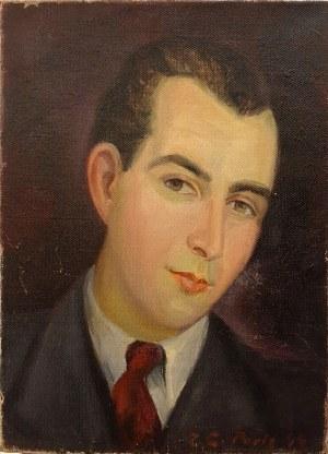 Zdzisław Cyankiewicz (Cyan) (1912 Białystok - 1981 Paryż) Portret mężczyzny, 1944 r.