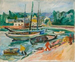 Henryk Epstein (1891 Łódź - 1944 Auschwitz) Port w Bretanii