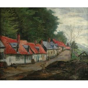 Jean Peske (1870 Gołta/Ukraina-1949 Le Mans) Czerwone dachy,