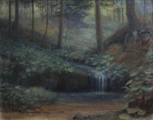 Feliks Kazimierz Wygrzywalski (1903-1966) Strumyk w lesie