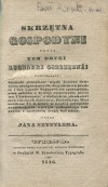 [kulinaria] SZYTTLER Jan - Skrzętna gospodyni czyli tom drugi Kucharki oszczędnej. Wilno 1846