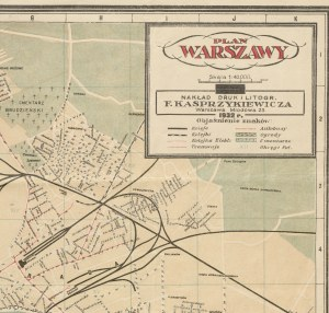 [Warszawa] Plan Warszawy (1932)