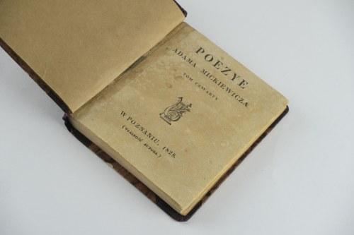 MICKIEWICZ Adam - Poezye. Tom IV. Konrad Wallenrod [1829]