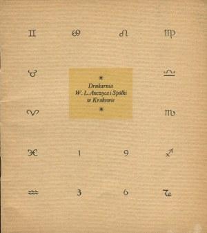 Kalendarz Drukarni W. L. Anczyca i Spółki w Krakowie na rok 1936