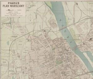 [Warszawa] Pharus Plan Warszawy (1915)