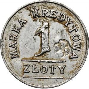 Wilno, 1 złoty, Spółdzielnia Spożywcza 3 Pułku Artylerii Ciężkiej, kontramarka z herbem na awersie