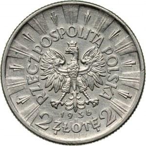 II RP, 2 złote 1936, Warszawa, Józef Piłsudski