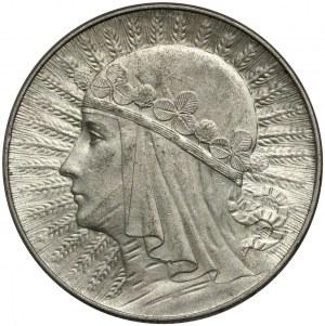II RP, 5 złotych 1934, Warszawa, Głowa kobiety