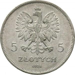 II RP, 5 złotych 1928, Bruksela, Nike