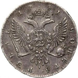 Russia, Ivan III, Rouble 1741 СПБ, St. Petersburg