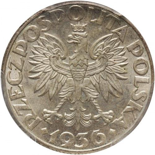 II RP, 2 złote 1936, Warszawa, Żaglowiec