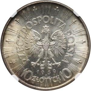 II RP, 10 złotych 1939, Warszawa, Józef Piłsudski