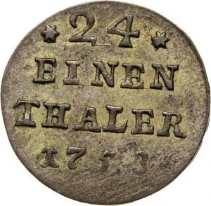 August III, 1/24 talara (grosz) 1753, Lipsk