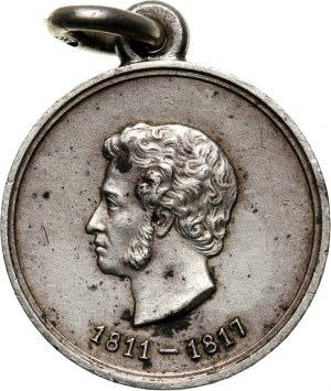 Russia, Nicholas II, medal 1899, Alexander Pushkin