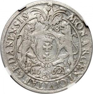 Jan II Kazimierz, ort 1662, Gdańsk